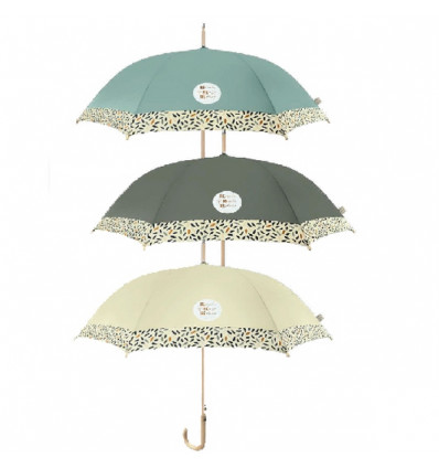 Perletti GREEN umbrella 61/8 Automatic - Recycled Fabrid and wooden*6