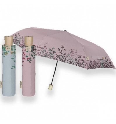 Perletti GREEN umbrella 54/8 Manual - Recycled Fabrid and wooden*6